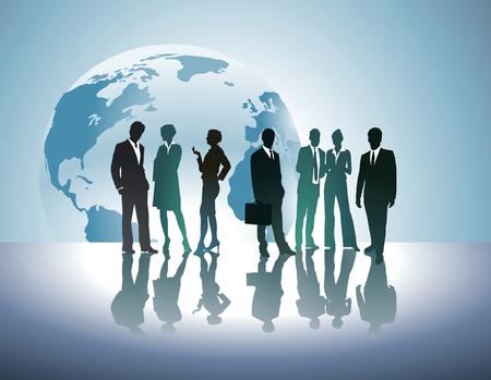 world trade: V�nculos e intercambios mundiales Vectores