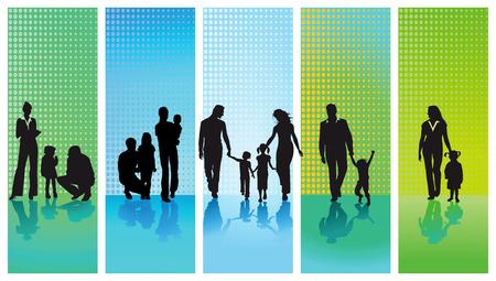 vijf gezinnen