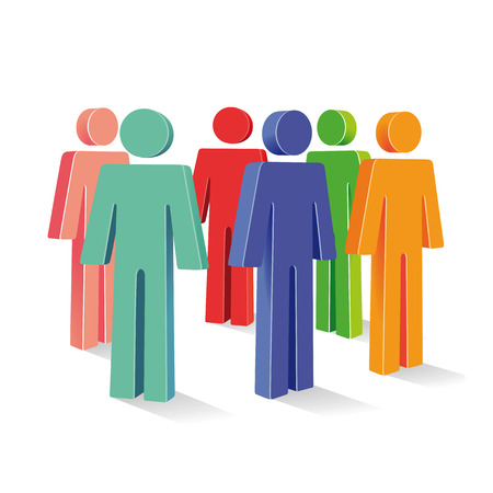sociable: colored group