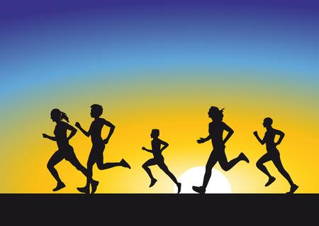 Running in Sunrise