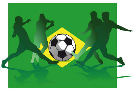 soccer wm: Brazil World Cup  Illustration