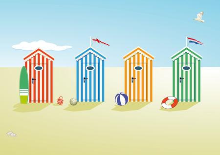 beach scene  イラスト・ベクター素材