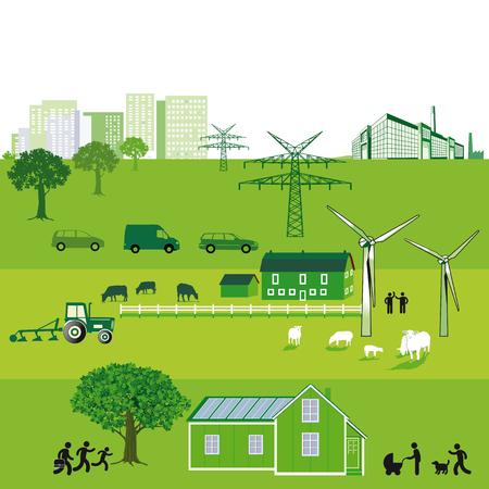guard house: sustainable Energy  Illustration