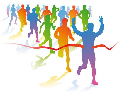 endurance run: Marathon runners