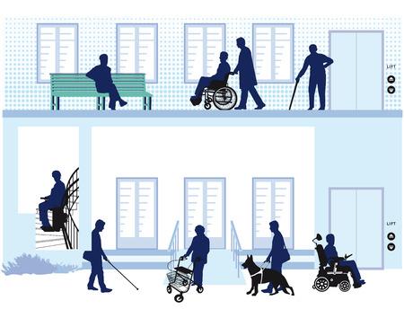 Barrier-free house Illustration