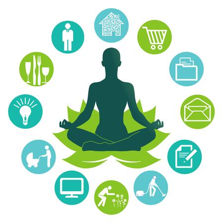 devotion: Relax by yoga  Illustration