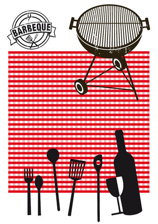 Barbeque picnic Vector