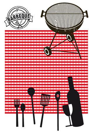 Barbeque picnic Illustration