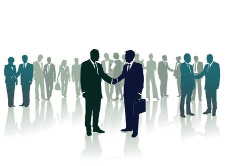 mutual: salutation, conversation Illustration