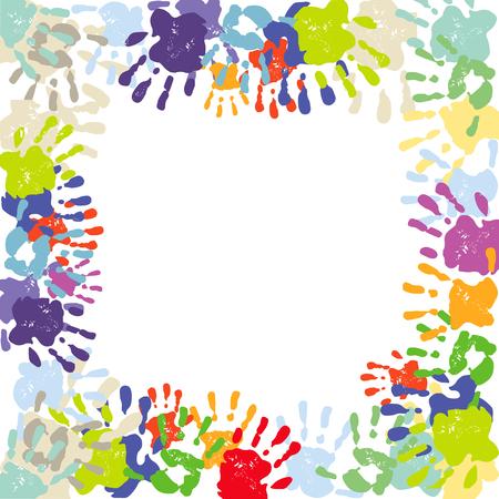 identification: colorful handprints