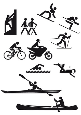Various sports characters  Vector