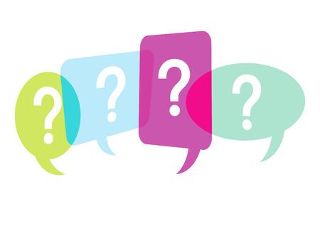 suspicion: ask question Illustration