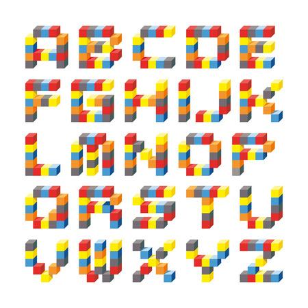 pedagogy: cubes alphabet  Illustration