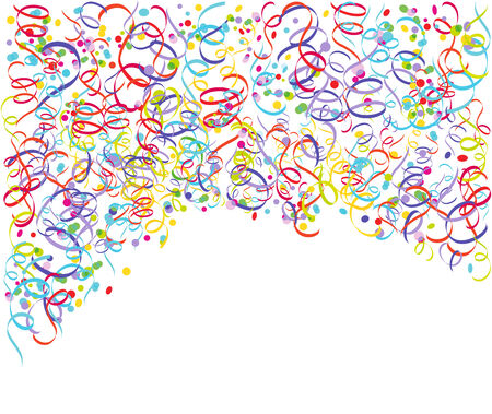 solemnity: Streamers with confetti   Illustration