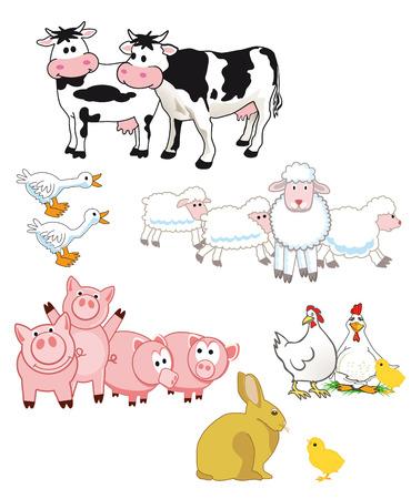 farm animals: Farm animals cartoon  Illustration