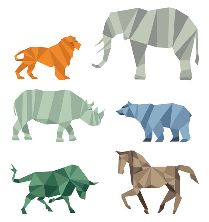 exotics: Cubist wildlife