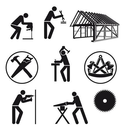 Carpenter Joiner characters  Illustration