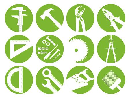 materiales construcci�n: doce herramientas Vectores