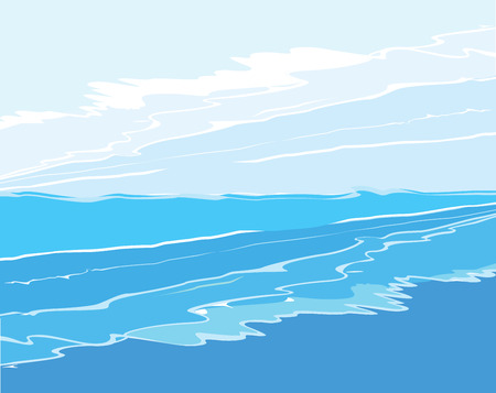 graphically: Waves and sky  Illustration