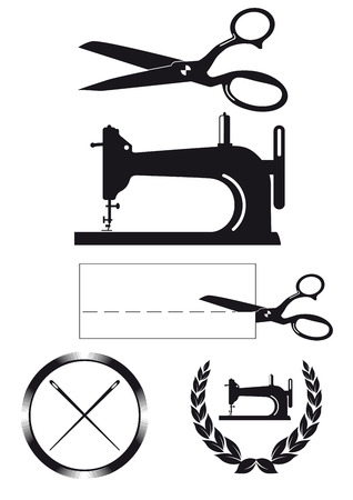 tailor design elements, labels, signs  Vector