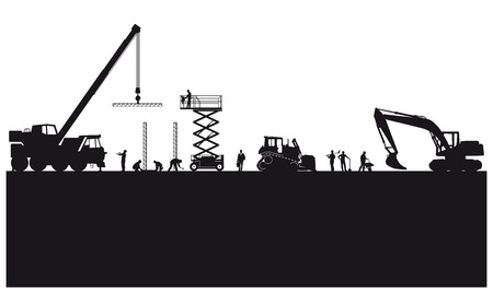 Building construction and civil engineering  Illustration