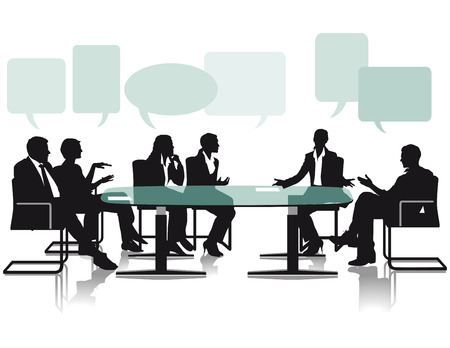Debatte und Diskussion im Büro