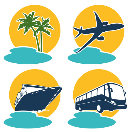 Travel and holiday icon  Vector