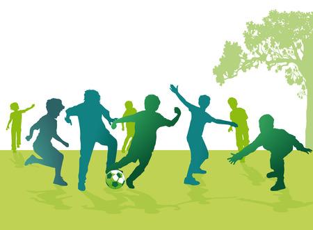 男の子のサッカー  イラスト・ベクター素材