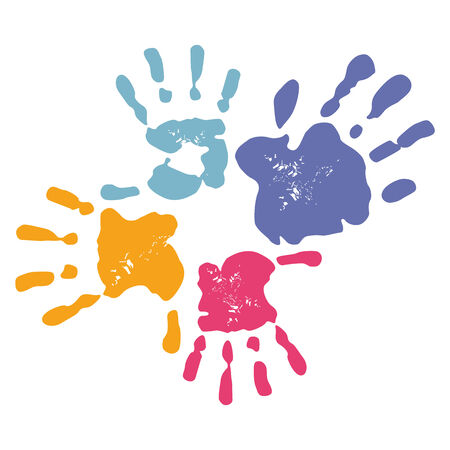 Family Handprint  Vector