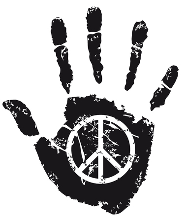 pacifist: peace Sign  Illustration