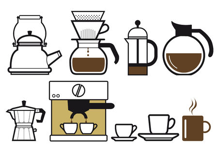 preparing: Preparing coffee