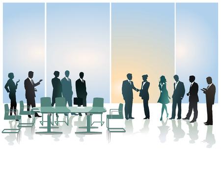 business reception: business reception Illustration