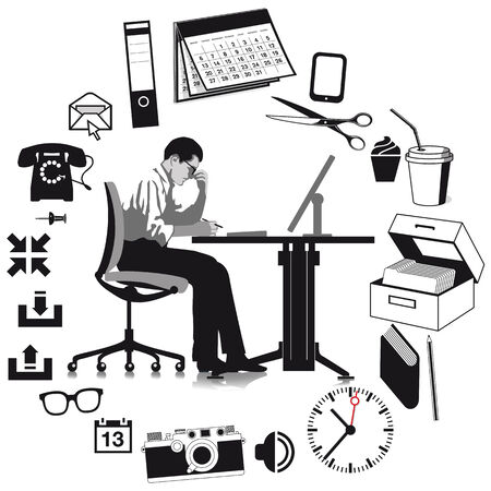 graphically: Businessman at work
