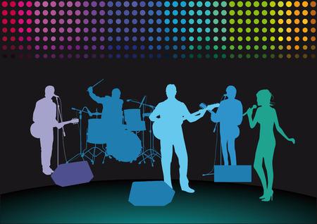 Rock Band en el escenario