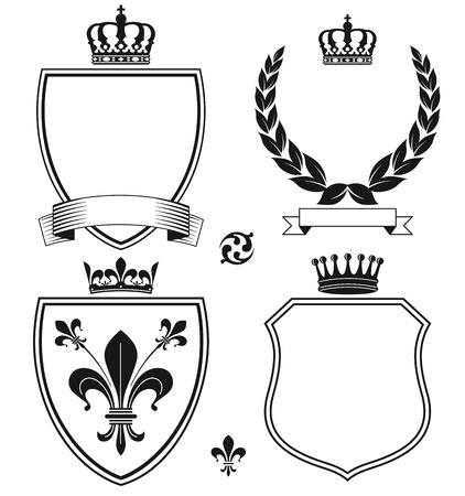 demanding: Signs and Heraldic Crests Illustration