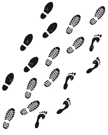 three footprints