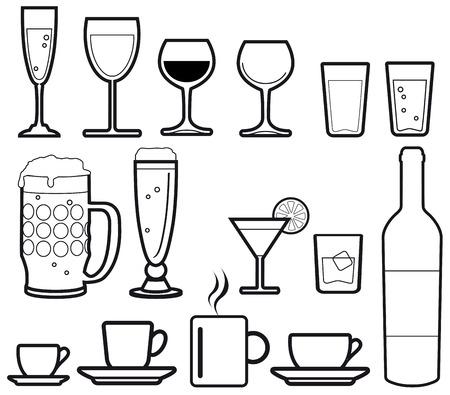 botella de licor: bebidas iconos