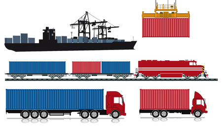 freight train: Loading and sending of containers