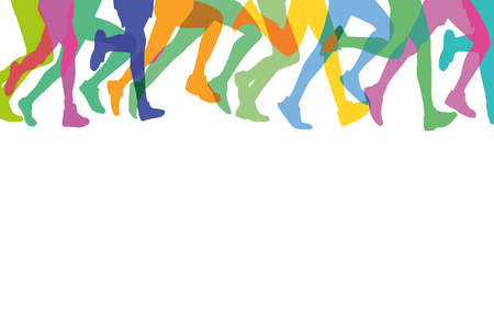 sportswoman: Runners in the group