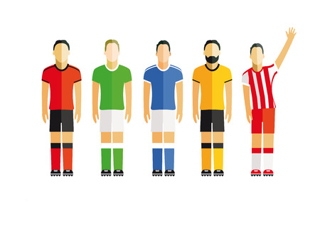jointly: five football players
