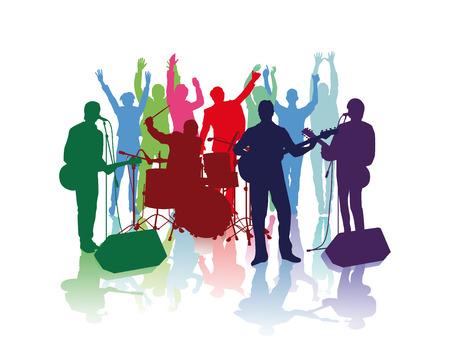 Band con i fan Archivio Fotografico - 33417134