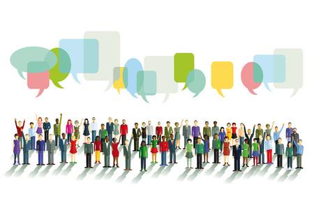 Kommunikation und Meinungen Illustration