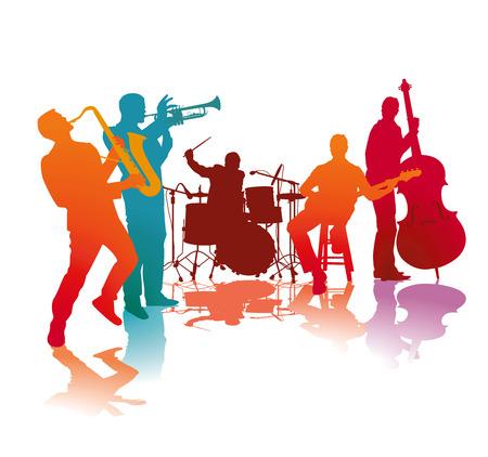 Jazz band 일러스트