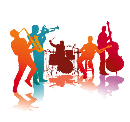 Jazz band Ilustrace