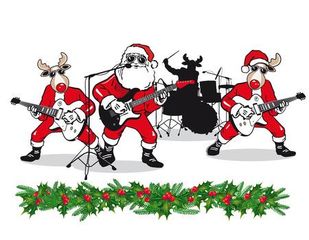 Weihnachten Band Illustration