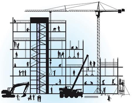 new construction  イラスト・ベクター素材