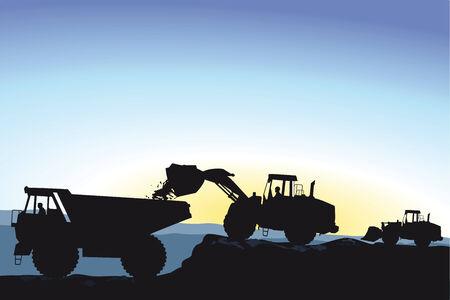 sandpit: Bulldozer durante los movimientos de tierra