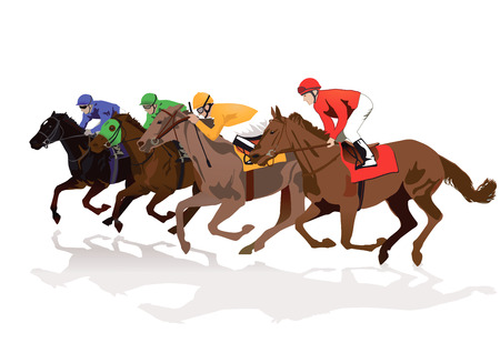 jockeys: Racecourse Illustration