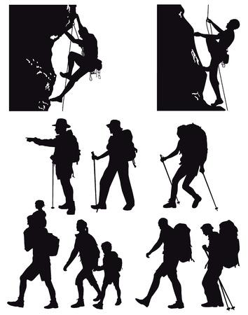 Randonnee Pedestre Vecteurs Graphiques Cliparts Et Illustrations Libres De Droits 123rf