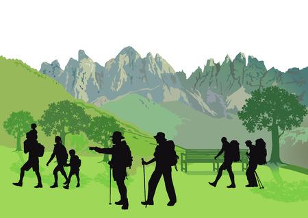 bergsteiger: Bergsteigen Illustration